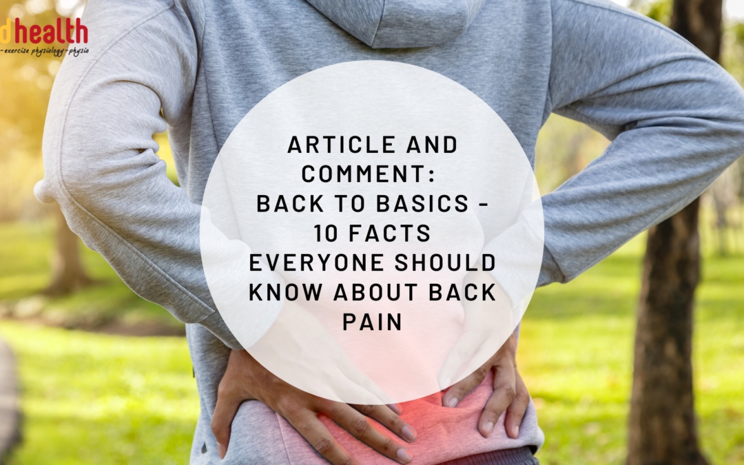 Article and Comment: Back to basics – 10 facts everyone should know about back pain